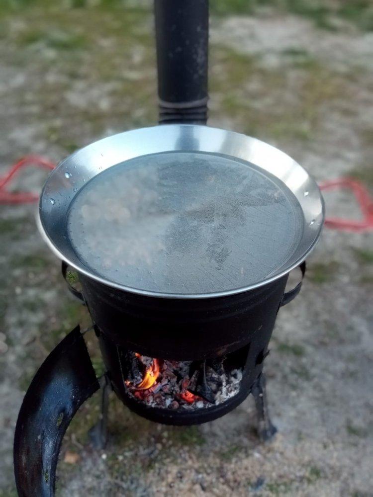 Pripravená paella panvica