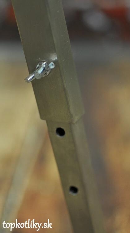 Nerezová kotlina vysoká - detail uchytenia nôh